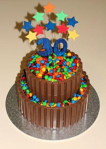 Adams 30th Birthday Cake White chocolate mud cake Chocolate mud