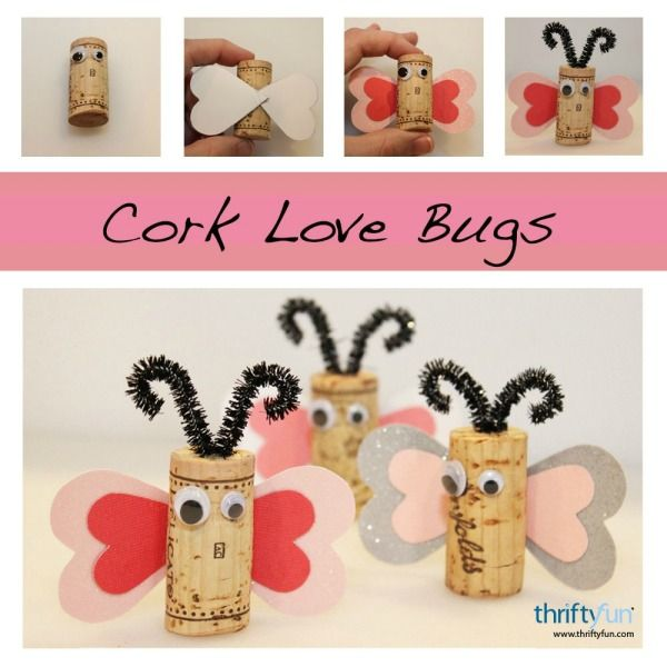 Cork love bugs cork wine and cork crafts for Wine cork crafts guide