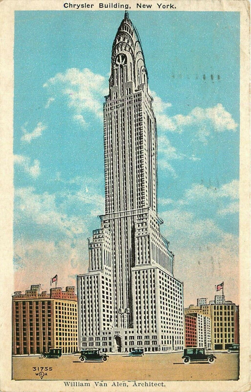 New York City Ny Chrysler Building 1934 White Border Vintage Postcard E7590 Ebay Chrysler Building New York City Ny New York City