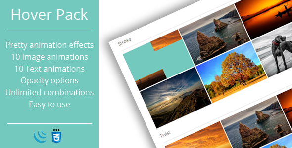 Hover Effects Pack JavaScript Plugin (With images