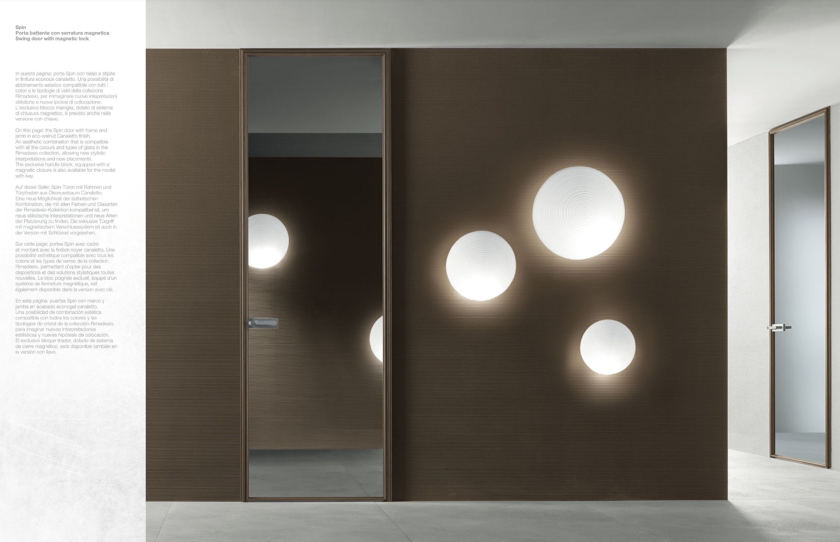 Great Contemporary Interior Glass Doors U2013 Spin By Rimadesio : Modern Interior  Glass Doors Spin By Rimadesio With White Wall And Interior Glass Door S And  Circle ...