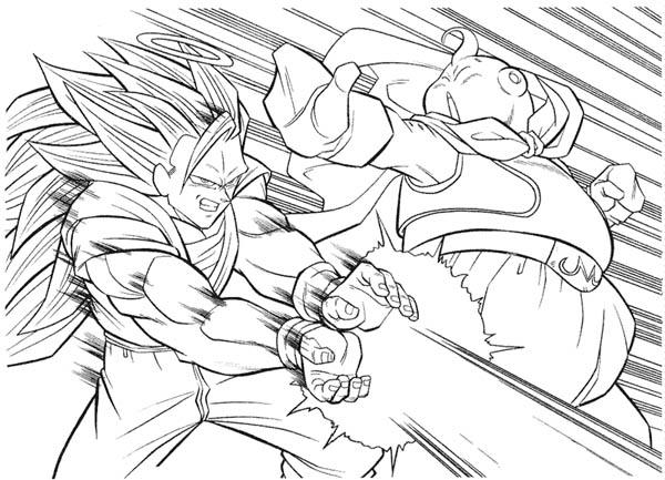 goku super saiyan 3 form vs bhu in
