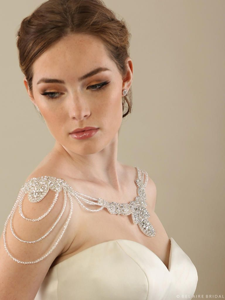 Shoulder Jewelry Is the New Bridal Accessory Shoulder jewelry
