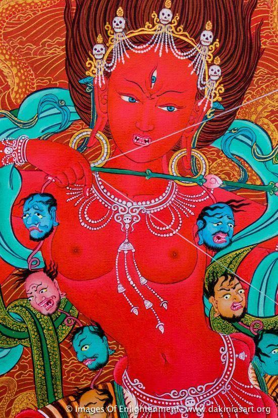 Vam Vajrayogini39s seed sylable dharma et dakinis t Art