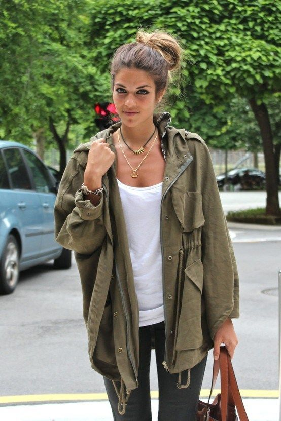 Parka Look Street Style, love the oversized jacket ... elfsacks ...