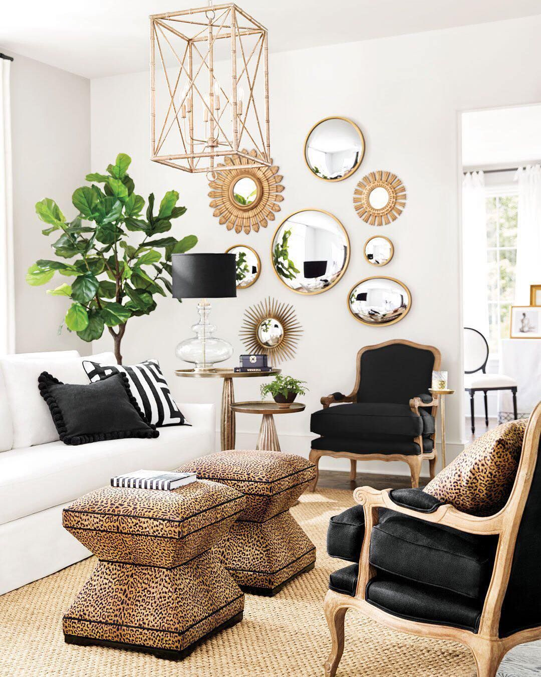 Why Limit Leopard Print To Your Living Room Enter Our Sweepstakes For A Chance To Win A Leo Gold Living Room Decor Gold Living Room Black And Gold Living Room