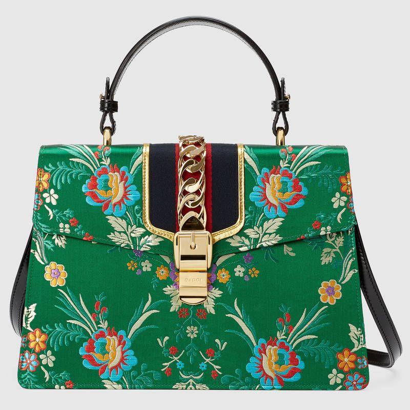 9c9dc9f135da Gucci Sylvie floral jacquard top handle bag | Favorite Handbags in ...