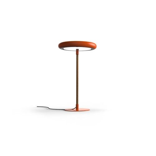Radius LED Leather Desk Lamp - Red and Natural Leather