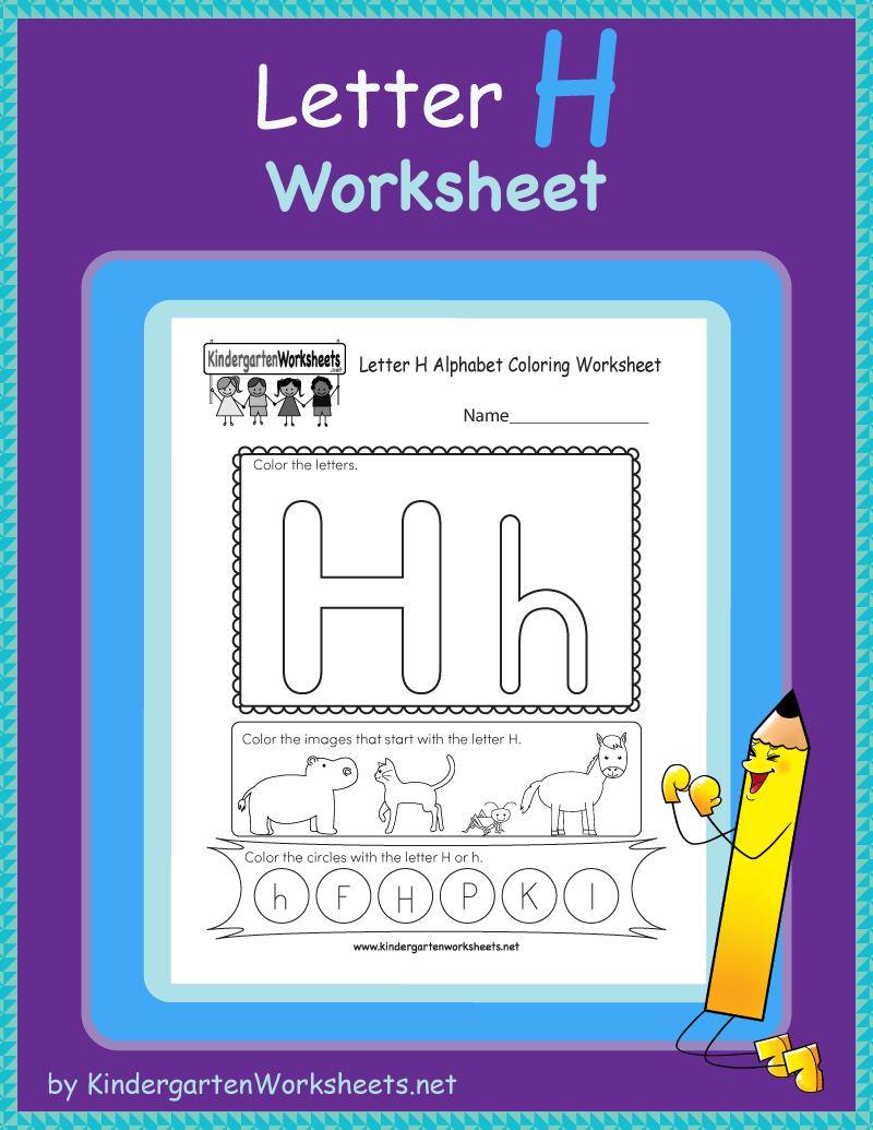 Free Letter H Worksheet Letter H Worksheets English Worksheets For Kindergarten English Worksheets For Kids [ 1035 x 800 Pixel ]