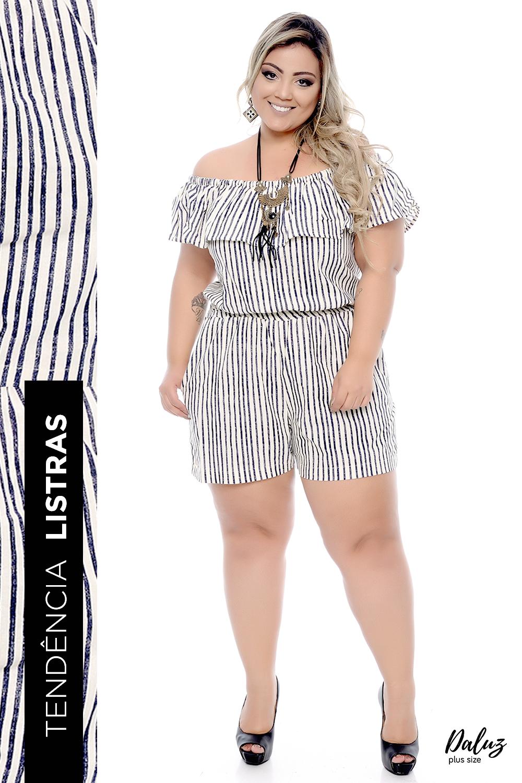 e6f6211ada Macacão Plus Size Núbia- Coleção Primavera - Verão 2018 Plus Size -  daluzplussize.com.br
