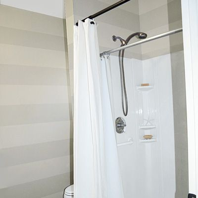 A Bath Remodel For Only $439. White ShowerStriped ...