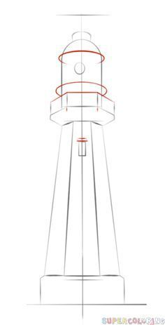 how to draw a lighthouse step by step drawing tutorials how to