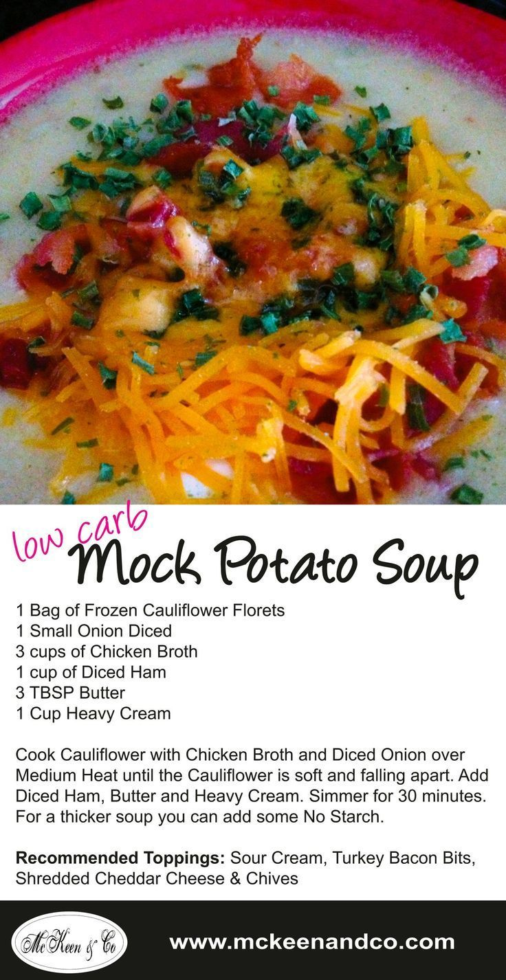 mock potato low carb soup with frozen cauliflower | Healthy diet tips |  Pinterest | Weight loss and Lost weight
