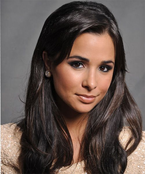 Josie Loren  - 2018 Dark brown hair & chic hair style.