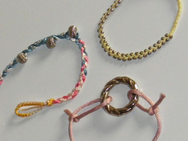 pastel shaded bracelets