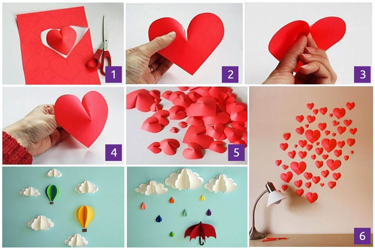 20 Extraordinary Smart Diy Wall Paper Decor Free Template Included Easy Arts Crafts Paper Wall Decor Diy Crafts Sewing