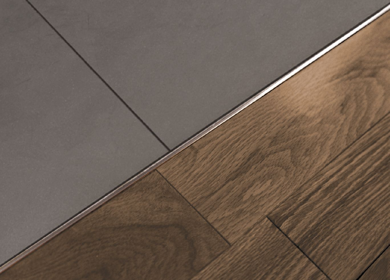 Schluter®-SCHIENE - aluminum material but available in satin chrome or  satin nickel finishes. Gray Tiles, Wood ... - Best 25+ Transition Flooring Ideas On Pinterest Dark Tile Floors