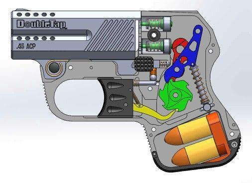 Diagram Of The Doubletap Defense Pocket Pistol 9mm Or 45acp Perfect