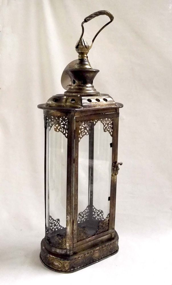 Home Decor Metal Hanging Lantern Candle Holder Indoor Outdoor 23 ...