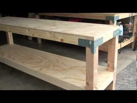 New Work Bench I Built For My Son In Law The Actual Size Is 24 X