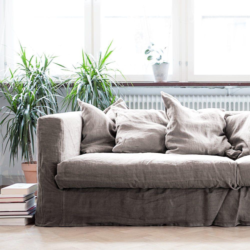 Le Grand Air 3 Seater Sofa Linen Decotique Royaldesign Co Uk Sofa Pillow Sets Sofa Inspiration Sofa