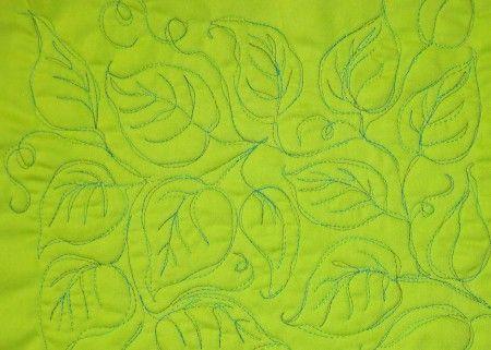 all-over leaf pattern