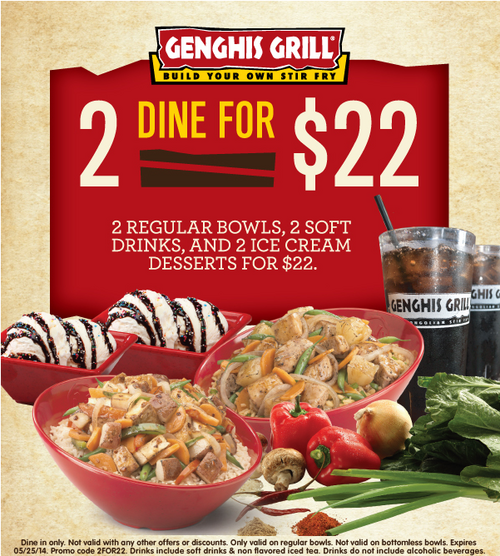 image about Genghis Grill Coupons Printable named Pin by way of Sarang Bi upon Preserve Even more Discount coupons, Ice product desserts