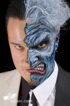 two face makeup - Google Search | Halloween | Pinterest | Face makeup