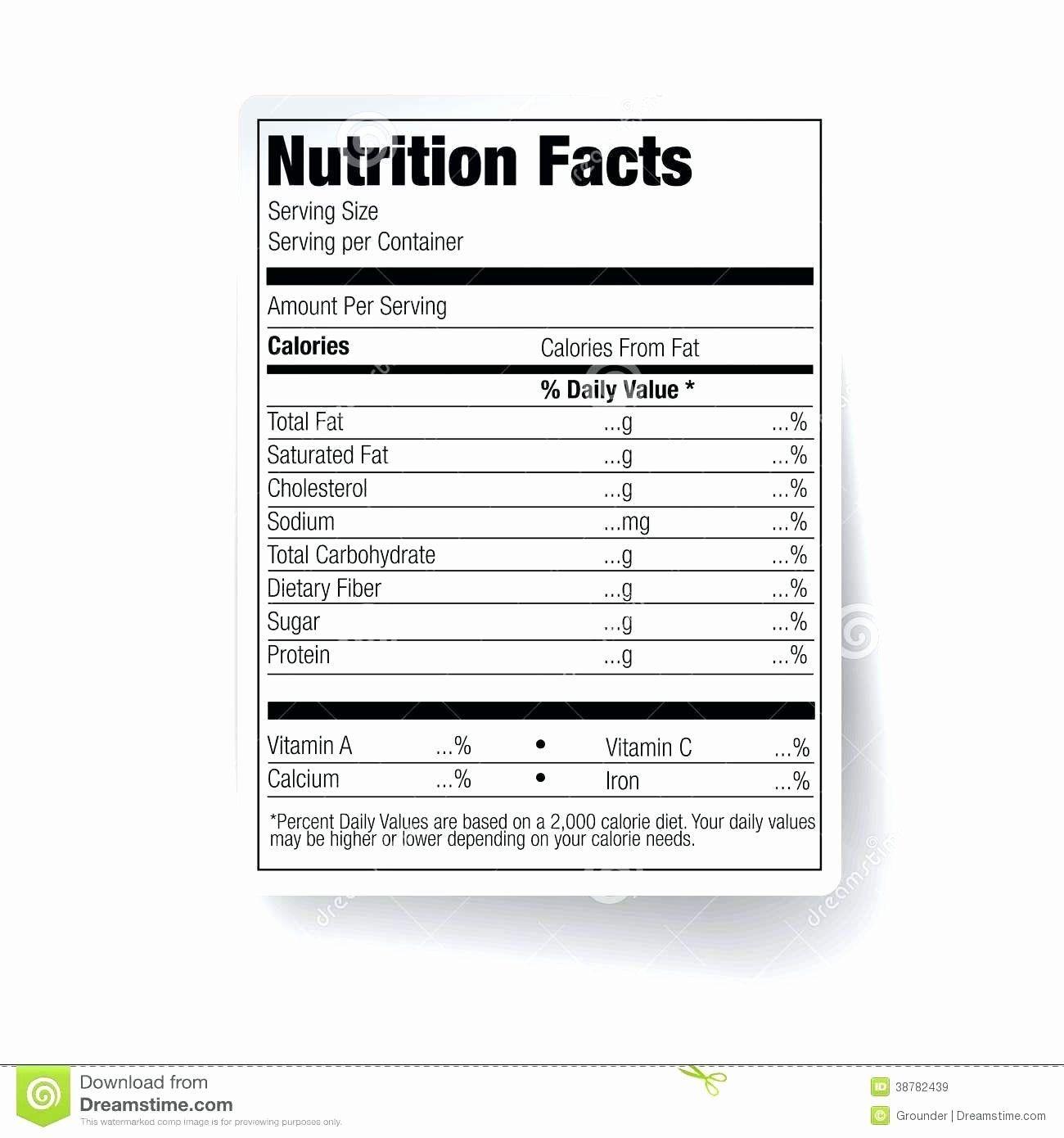 Blank Nutrition Label Worksheet Best Of Blank Food Label