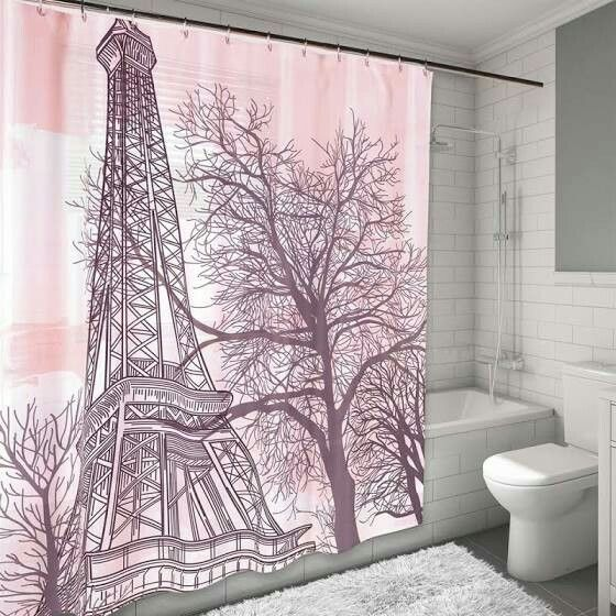 Pin By Melissa Watson On Paris Decor With Images Fabric Shower