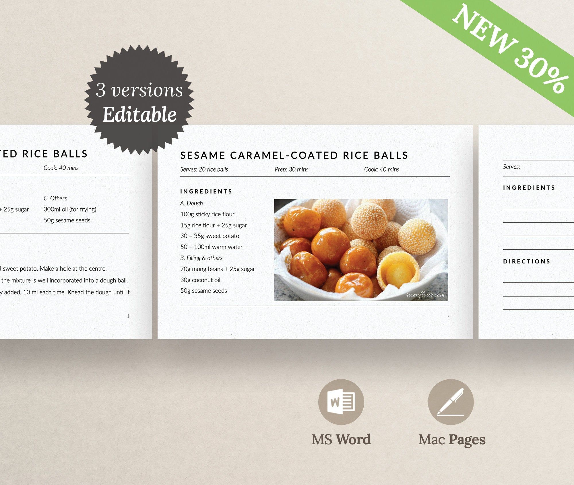 Modern Recipe Cards Editable Recipe Card Template Etsy In 2020 Recipe Cards Template Printable Recipe Cards Food Printables