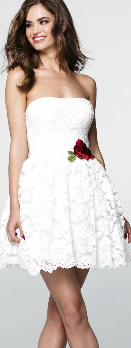 Strapless Lace Dress by Tarik Ediz