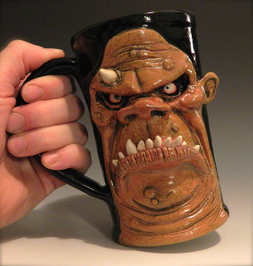 Unique Mugs For Sale Part - 46: Ogre Beer Mug- FOR SALE By Thebigduluth On DeviantArt