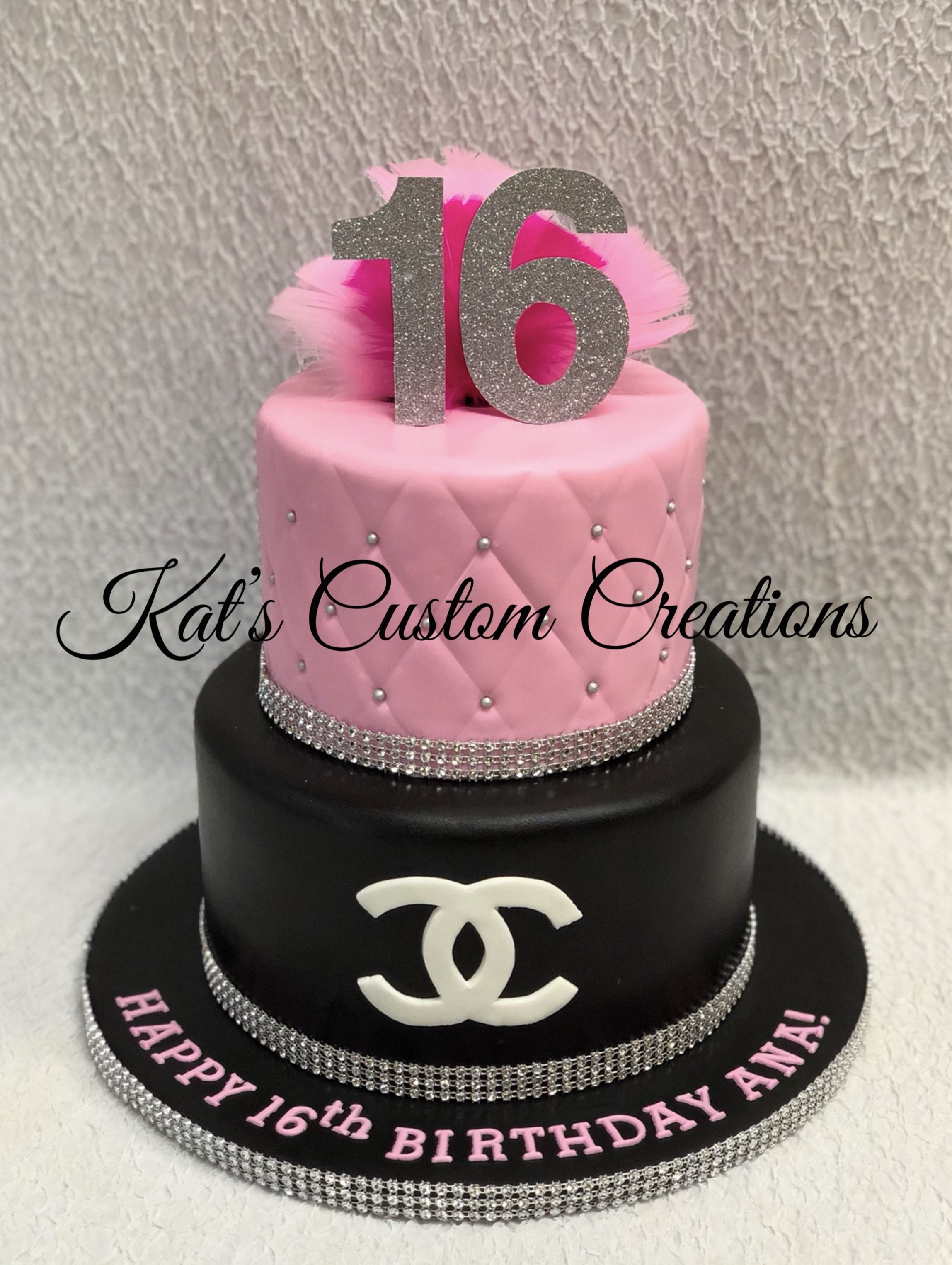 Chanel 16th Birthday Cake With Images 16th Birthday Cake For