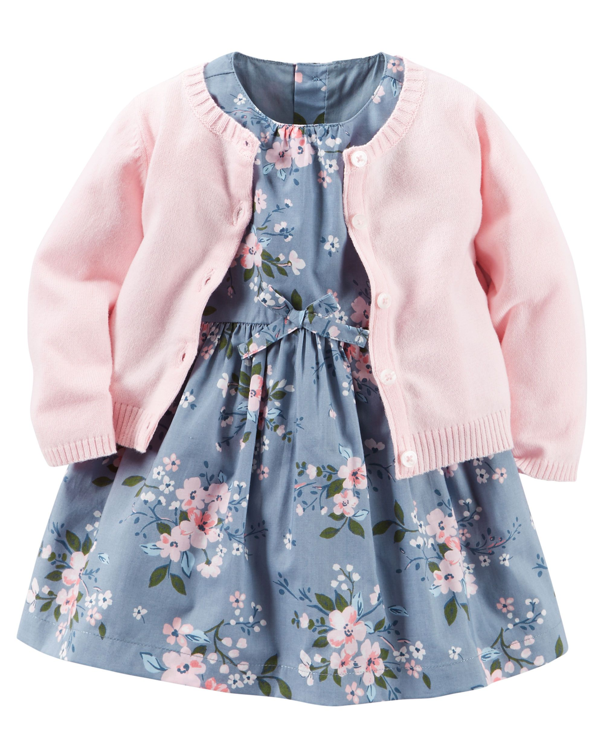 ac3df75c1 2-Piece Dress   Cardigan Set