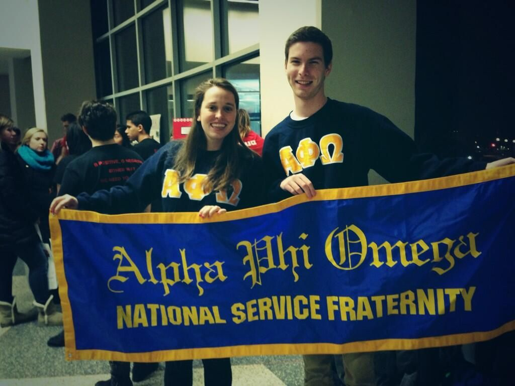 Bring your APO banners to your recruitment events! Photo from Beta Theta Chapter - UW Madison