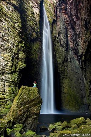 Cachoeira da Fumacinha in Parque Nacional Chapada Diamantina in Brazil