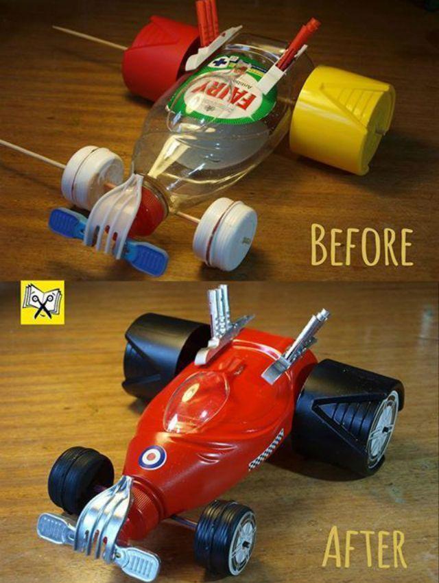 33 Brinquedos Reciclados com Garrafa Pet Fáceis de