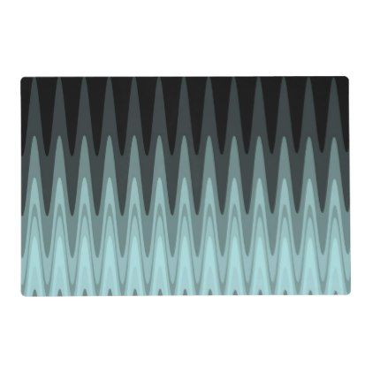 Zig Zag Black Teal Gray Pattern Placemat Zazzle Com Grey Pattern Pattern Placemats