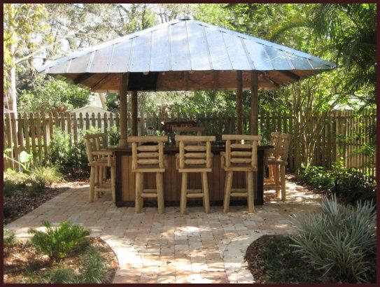 Tiki Hut Bar Tin Roof Garden Pinterest Tiki Hut