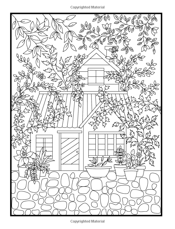 amazoncom hidden garden an adult coloring book with