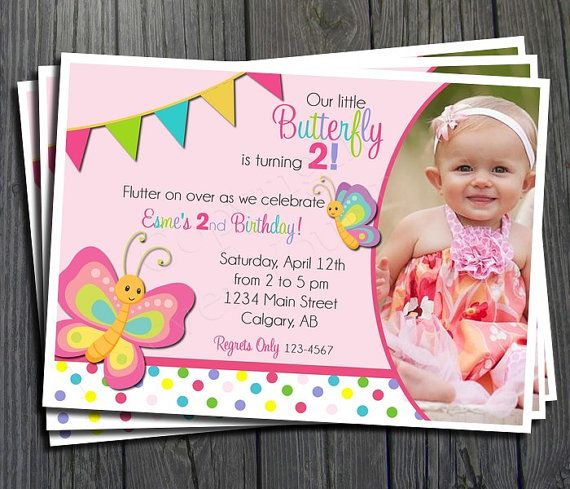 Butterfly Birthday Invitation FREE Thank You By ForeverYourPrints 1500