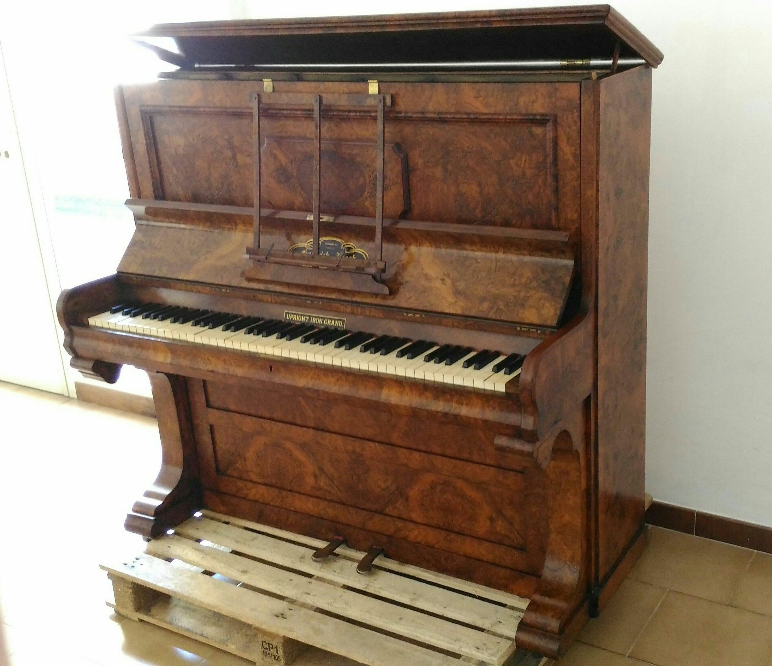 Arredare Con Pianoforte Verticale Upright Piano Frederick Reogh 1870 London How Made Restoration