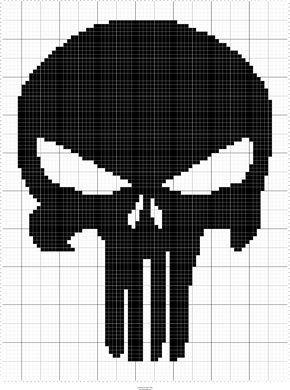 Punisher Skull Cross Stitch Patterns Cross Stitch Pattern Maker