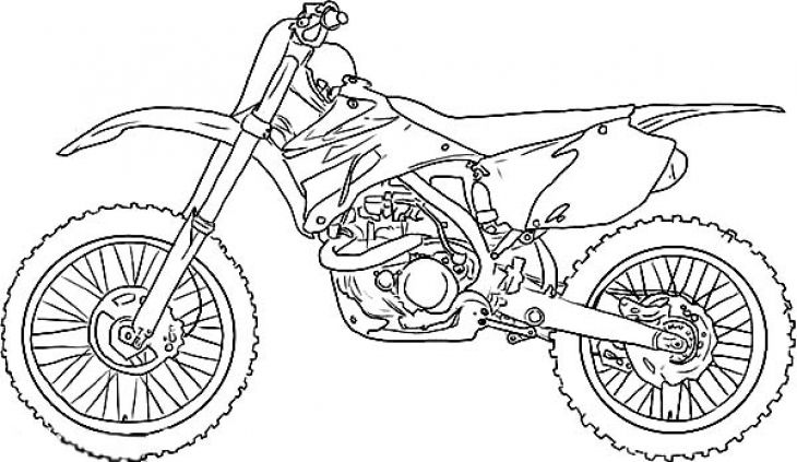 Free Printable Image Of Dirt Bike To Color For Kids Bike Drawing