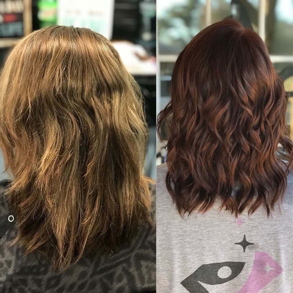 Mocha Red Southern Roots Salon Roots Salon Long Hair Styles Hair Styles
