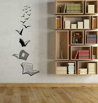 Wall Decal Library School Classroom Wall Art Sticker Study Room Decoration Fash Wall Stickers Living Room Wall Art Decor Living Room Wall Stickers Bedroom