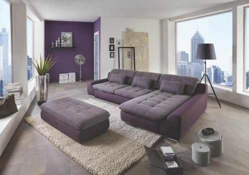 Megapol Spike Eckgarnitur Energy Purple Aubergine Sofa