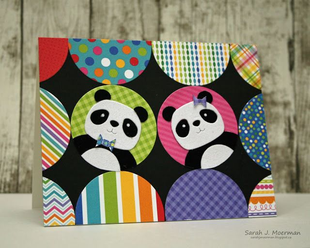 SSS August Card Kit: Boy / Girl Pandas & GIVEAWAY! #cardkit