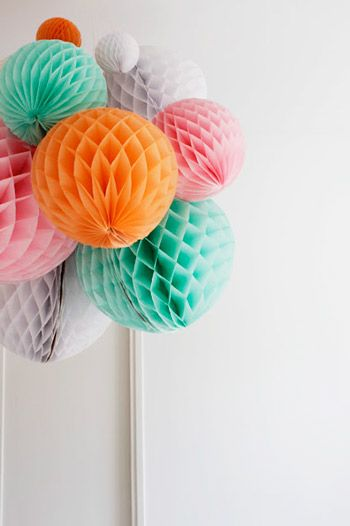 10 Festive Ideas For Decorating With Honeycomb Balls The Sweetest Occasion Paper Crafts Crafts Diy Party Decorations
